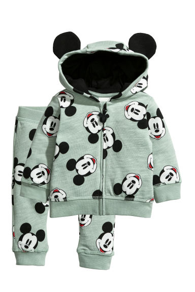 Cotton jacket and joggers - Mint green/Mickey Mouse -  | H&M CN