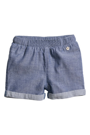Cotton shorts - Blue/Chambray - Kids | H&M CN