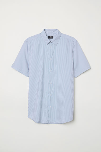 Shirt Slim Fit - Blue/White striped - Men | H&M CN