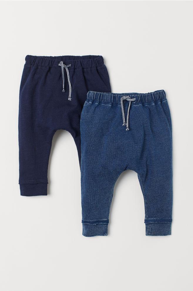 9e5cb443 2-pack bukse - Mørk blå - BARN | H&M ...