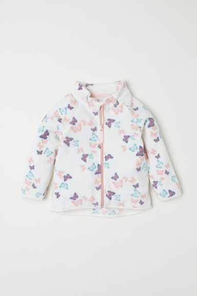 Fleece jacket - White/Butterflies -  | H&M