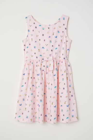 Patterned dress - Light pink/Bees -  | H&M CN