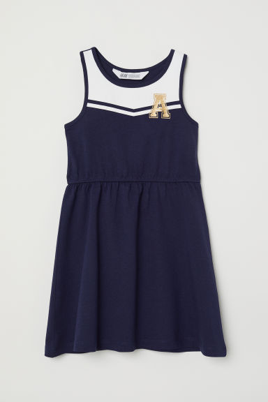 Jersey dress - Dark blue - Kids | H&M