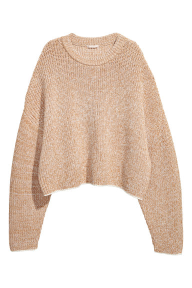 Wide jumper - Beige marl - Ladies | H&M CN