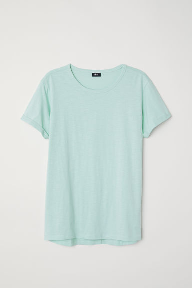 Slub jersey T-shirt - Light dusky green - Men | H&M CN