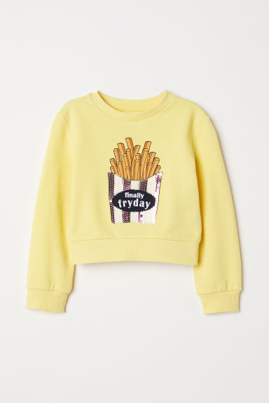 Sudadera con estampado - Amarillo/Finally Fryday -  | H&M ES