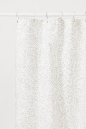 Cotton-blend shower curtain