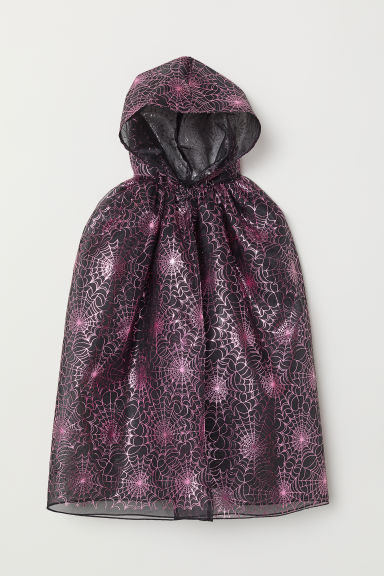 Fancy dress cape - Black/Cobweb - Kids | H&M