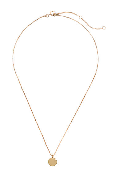 Necklace with a pendant - Gold-coloured -  | H&M IE