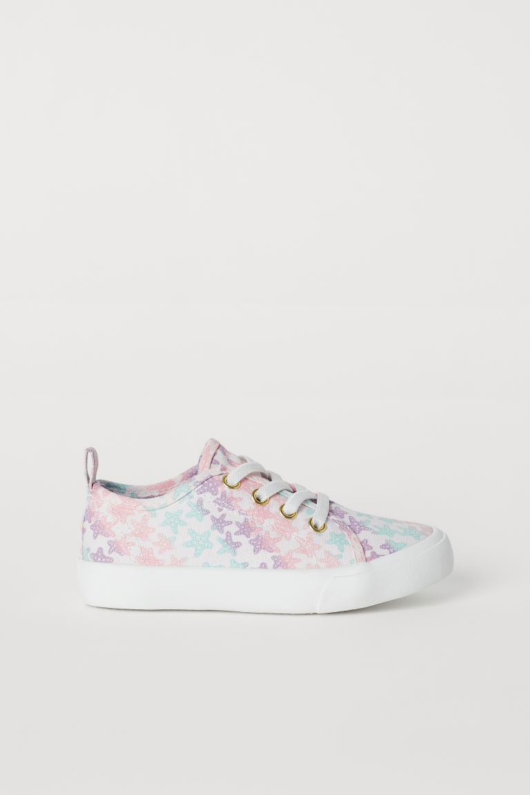 Canvas trainers - Light pink/Starfish -  | H&M