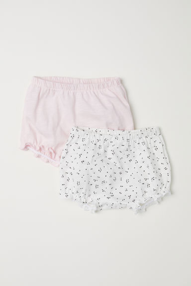 2-pack cotton puff pants - White/Spotted - Kids | H&M CN