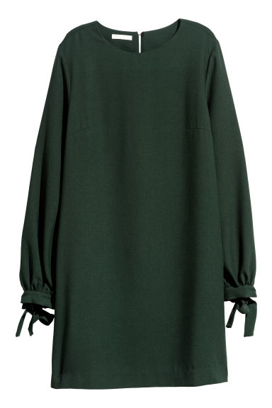 Short dress - Dark green -  | H&M