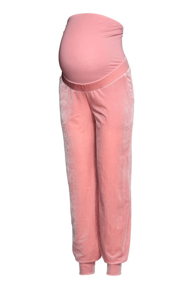 MAMA Velour joggers - Pink -  | H&M CN