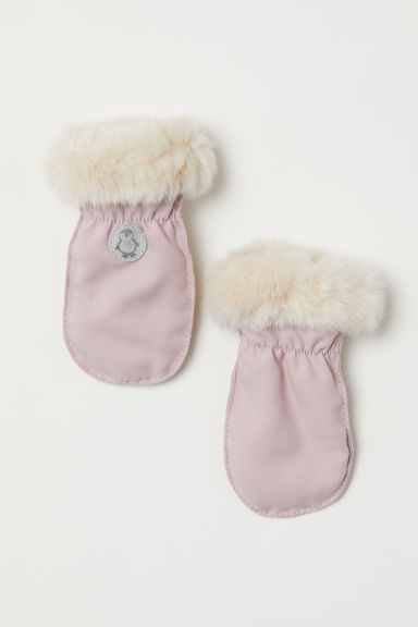 Fleece-lined mittens - Powder pink - Kids | H&M CN