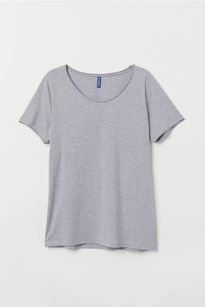 1685be1d83ce1 Low-cut T-shirt - Gray melange - Men | H&M ...