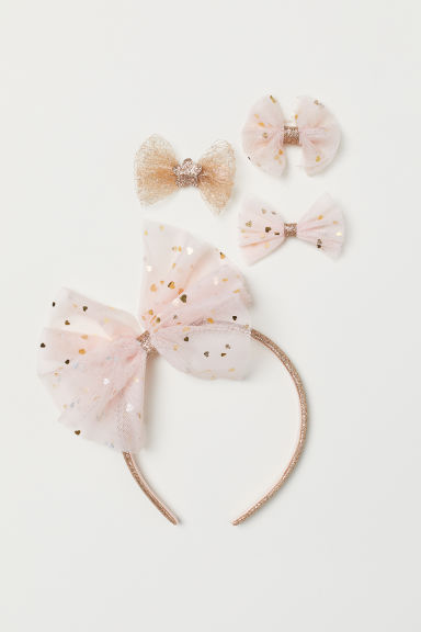 Alice band and hair clips - Light pink -  | H&M