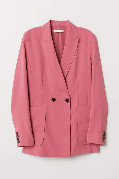 Double-breasted blazer - Poederroze - DAMES | H&M NL