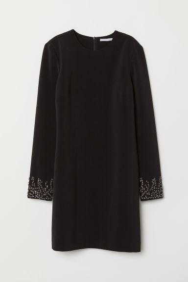 Dress with Rhinestones - Black - Ladies | H&M US
