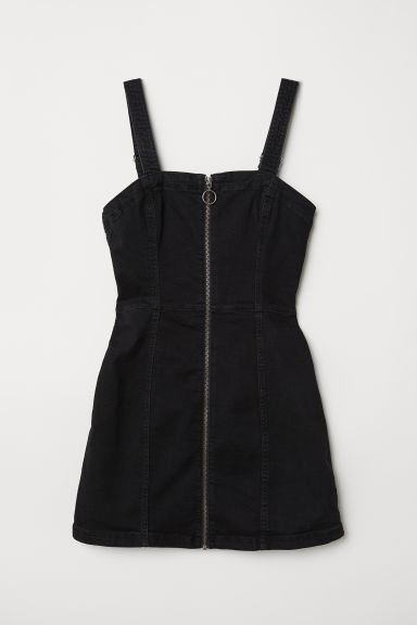 Dungaree dress - Black -  | H&M
