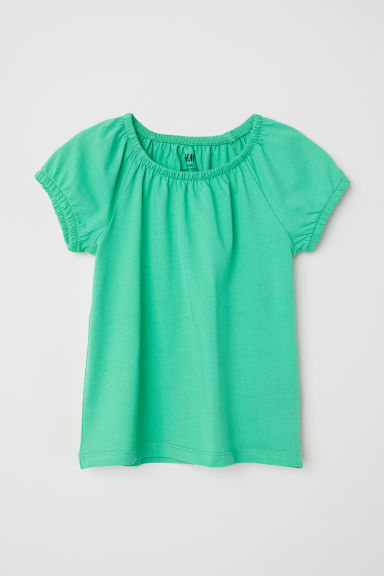 Jersey top - Bright green -  | H&M