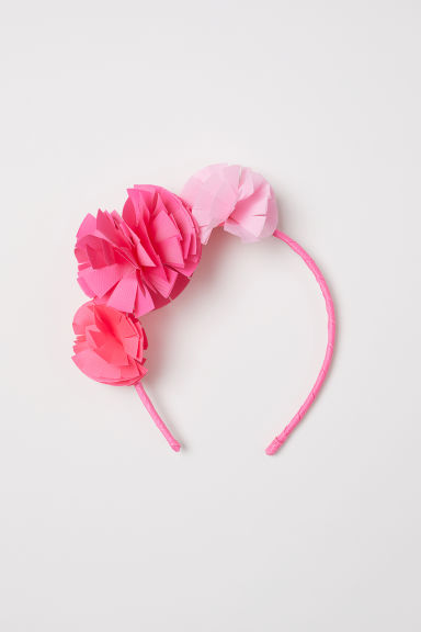 Alice band with flowers - Pink -  | H&M CN
