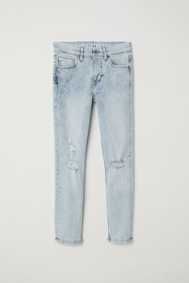 Superstretch Skinny Fit Jeans - Azul denim claro - CRIANÇA | H&M PT