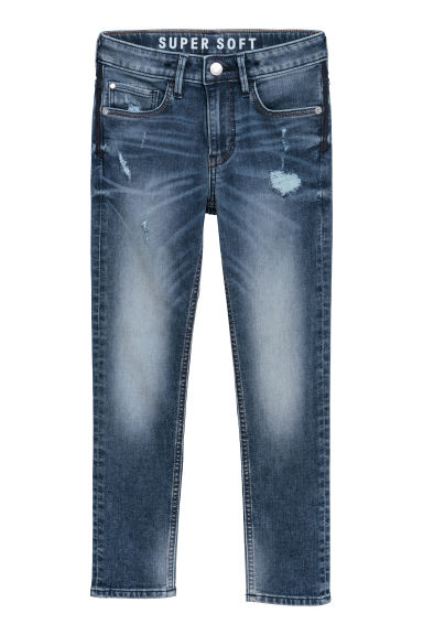 Super Soft Skinny Fit Jeans - Donker denimblauw -  | H&M BE