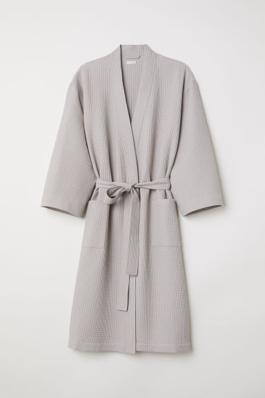 Waffled dressing gown - Light mole - Home All | H&M CN