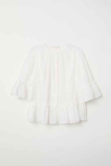 Crêpe blouse - White - Ladies | H&M