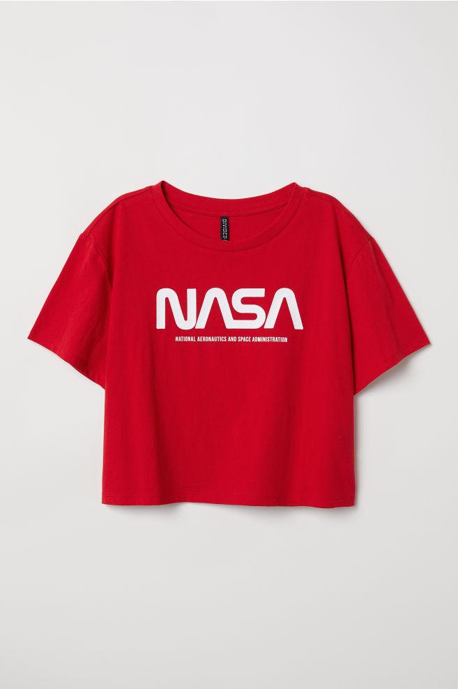 e557034754 Rövid póló - Piros/NASA - NŐI | H&M ...