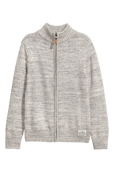 Gilet en maille - Gris clair chiné -  | H&M BE