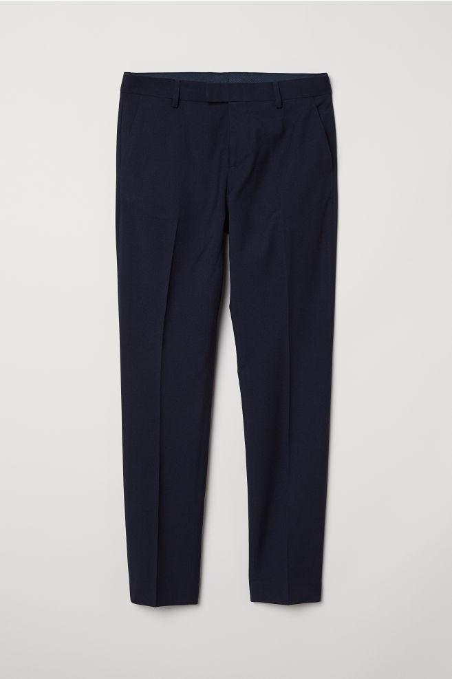 Suit Pants Slim Fit Dark Blue Men H M