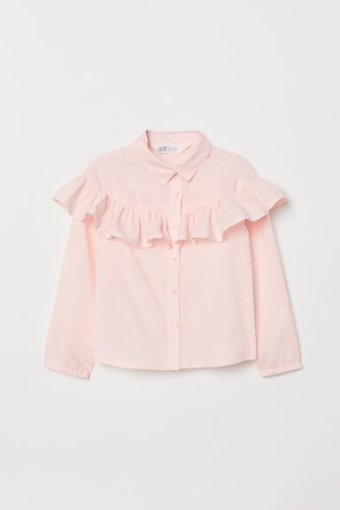 Flounce-trimmed blouse - Light pink - Kids | H&M