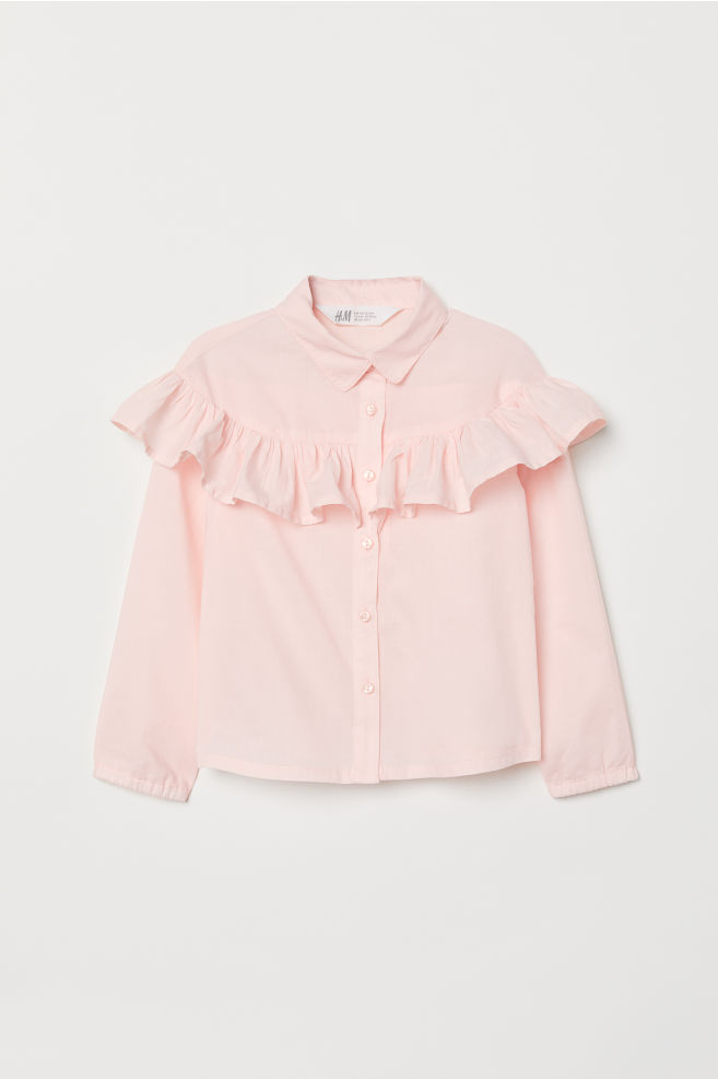 a649e9888 Bluse med volang
