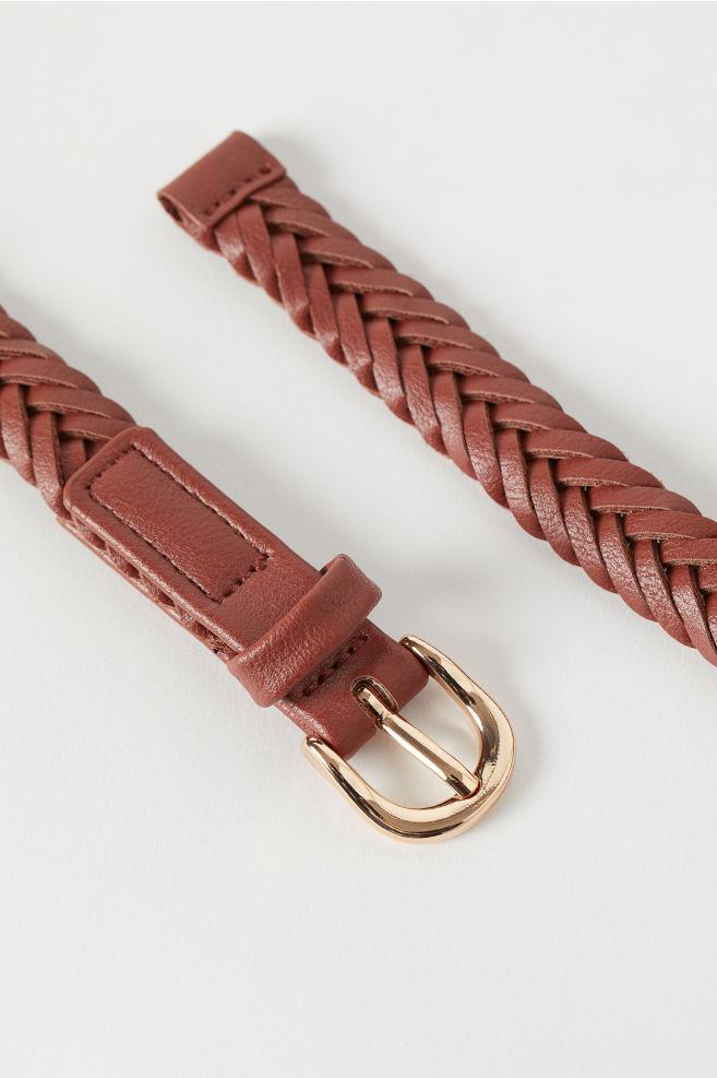 468126c0b2f77 Braided Belt - Brown - Ladies