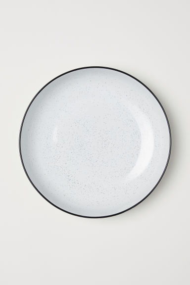 Stoneware salad bowl - White/Speckled - Home All | H&M CN