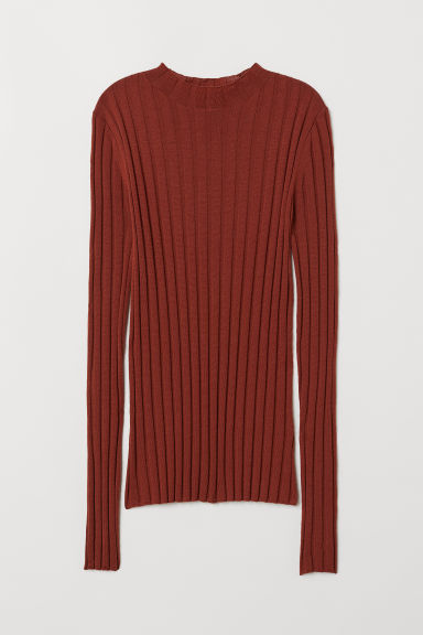 Fine-knit merino wool jumper - Rust - Ladies | H&M CN