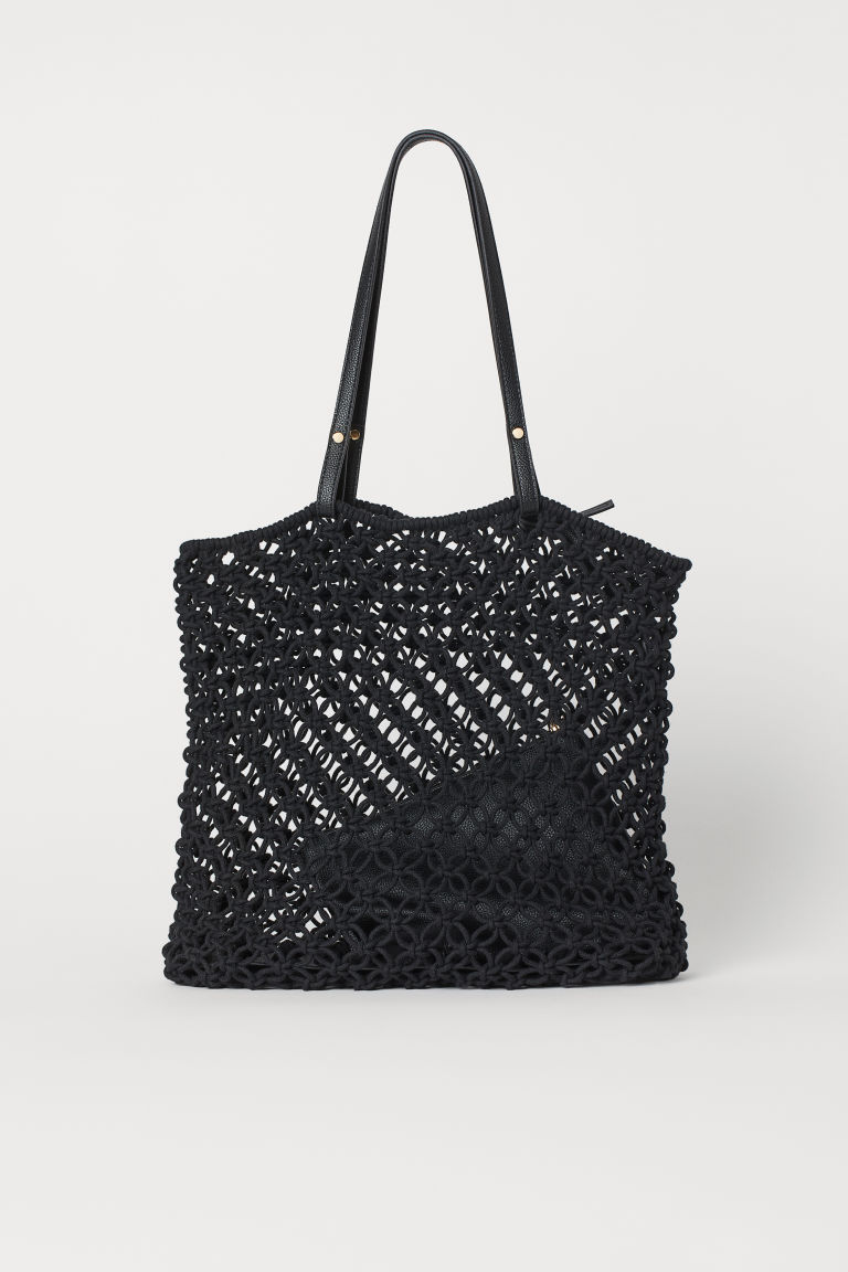 Braided Bag with Clutch - Black - Ladies | H&M US