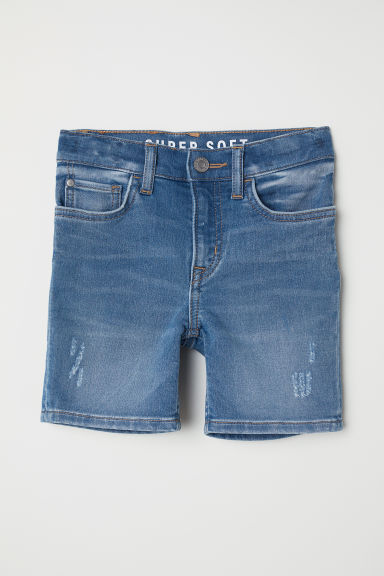 Denim shorts Slim Fit - Denim blue - Kids | H&M