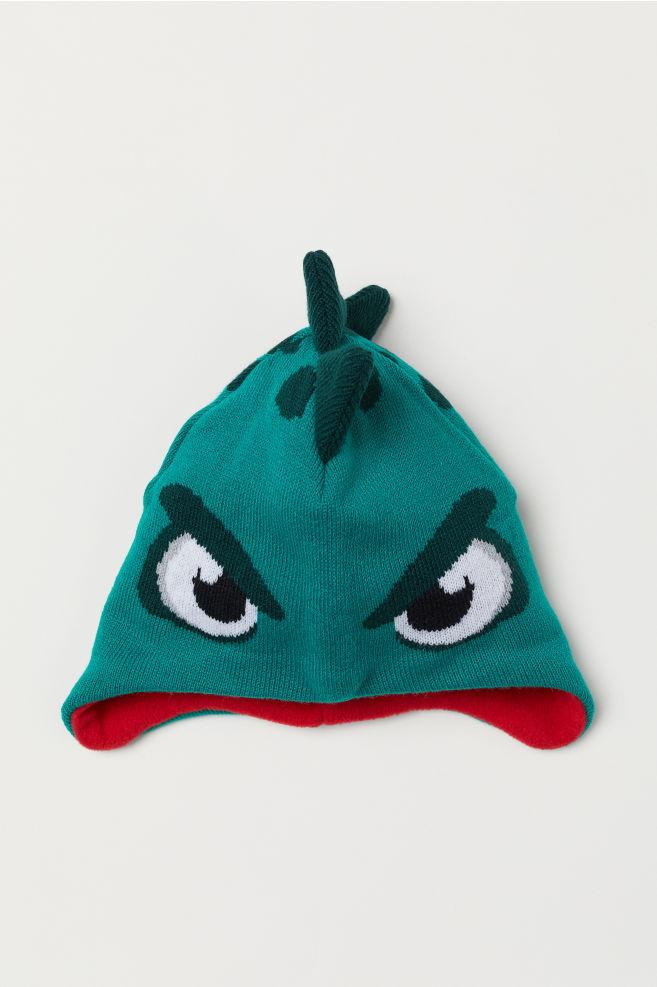 38cc8a91da2 Fleece-lined Hat - Green dragon - Kids
