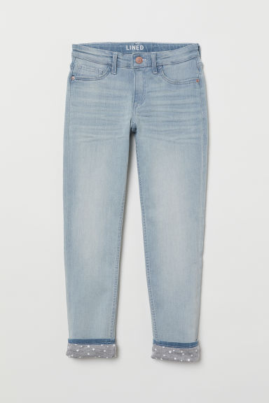 Skinny Fit Generous Size Jeans - 浅蓝色 - Kids | H&M CN