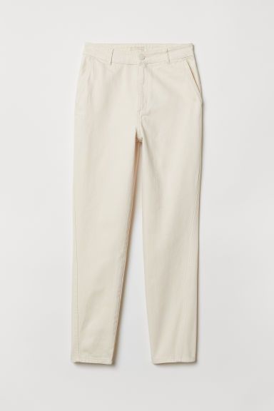 Ankle-length jeans - Natural white - Ladies | H&M