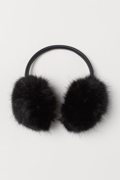 Faux fur earmuffs - Black - Ladies | H&M CN