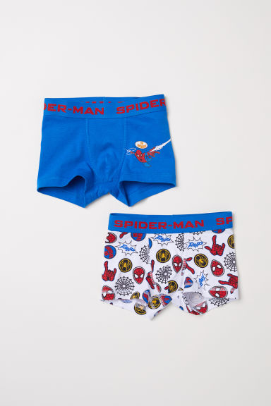 2-pack boxer shorts - Blue/Spider-Man - Kids | H&M
