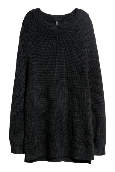 Rib-knit jumper - Black -  | H&M CN