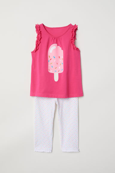 Jersey pyjamas - Cerise/Ice lolly -  | H&M CN