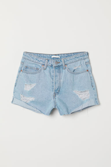 Shorts in denim - Blu denim chiaro - DONNA | H&M IT