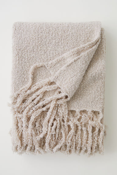 Bouclé Throw - Light beige - Home All | H&M US