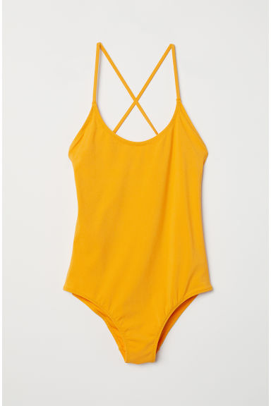 Swimsuit with lacing - Yellow - Ladies | H&M CN