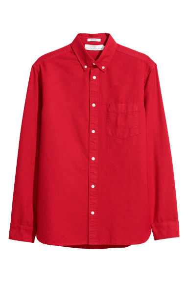 Oxford shirt Regular fit - Bright red - Men | H&M CN
